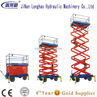 telescopic lift/electric moto 4m mobile scissor lift made in China