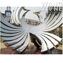 Large Decorative Outdoor Stainless Steel Phoenix Statue