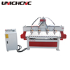 High work efficiency multi heads wood cnc router/cnc wood carving machine/cnc router 4 axis