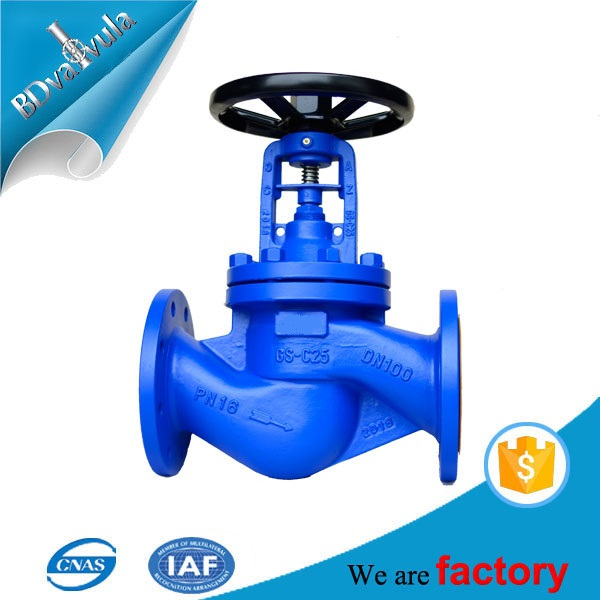 DIN Bellows Seal Cast Steel Stop Valve Globe Valve
