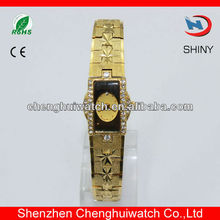 2013 updated lady crystal fashion Fake Gold Watches