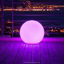 LED glowing plastic ball for garden and swimming pool