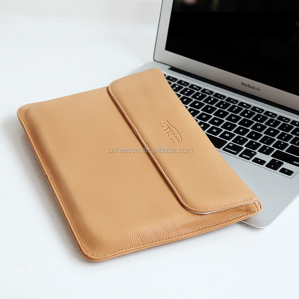 12 inches leather laptop case bags for Macbook Air