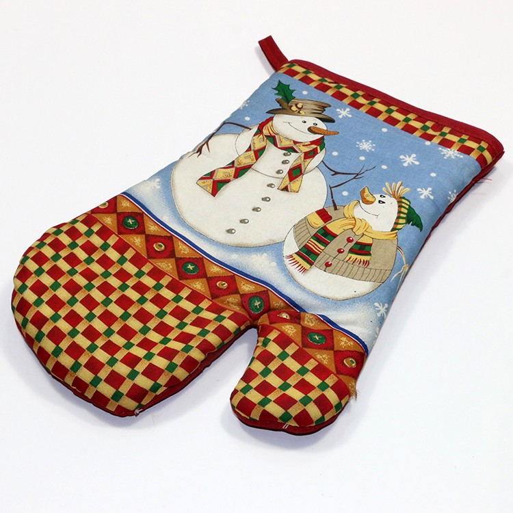 Great gift for Christmas 100% cotton Oven Mitt Gloves