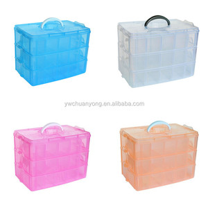 New Transparent Plastic Storage Box Clear Jewelry Cosmetic Makeup Organizer Boxes Storage Case