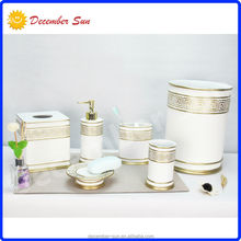 beautiful cheap antique white resin bathroom accessory sets