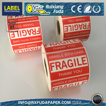 "OEM Fragile label 2""x3"",500pcs/roll"