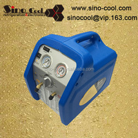 auto oil ac system refrigerant recovery and refill machine with flushing