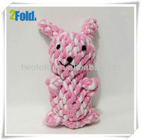 Pink Rabbit Ropy Dog Toy Mimicry Pet