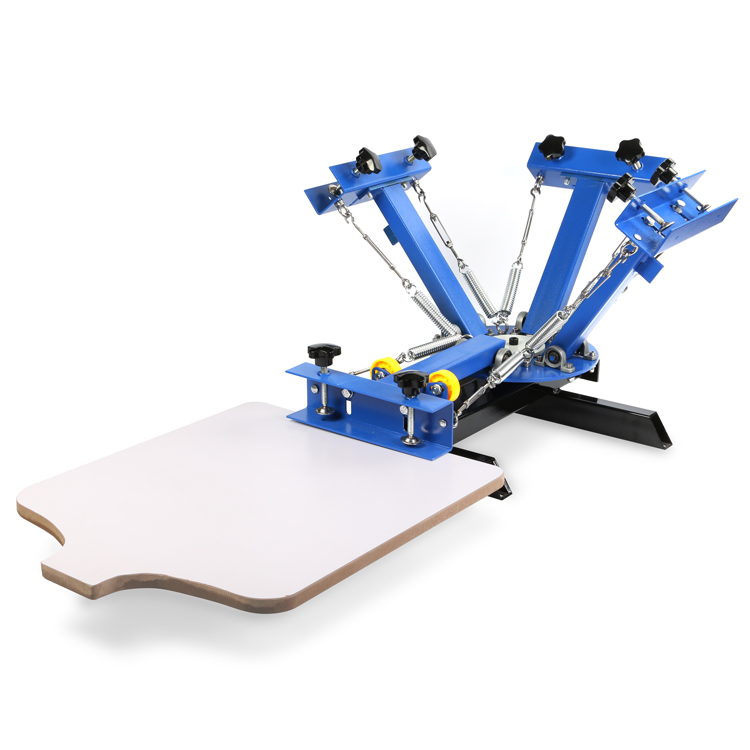 4 Color 1 Station Silk Screening Screenprint Press Screen Printing Machine