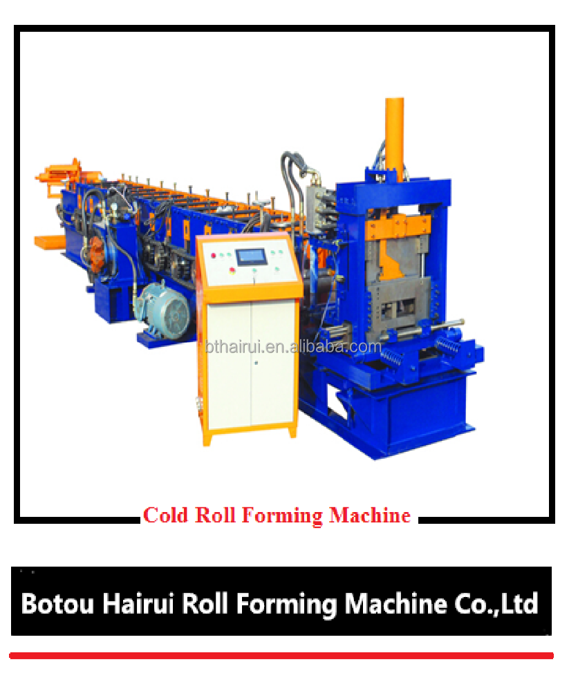 High speed frame cad supported C channel steel roll forming machine