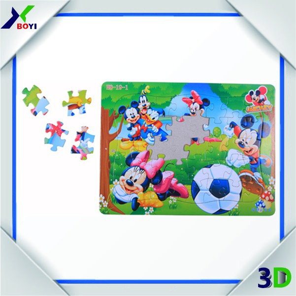 Nice design children games cartoon paper jigsaw puzzle