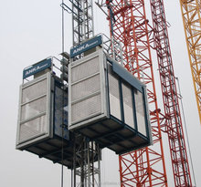 Rack and pinion hoist construction site elevator