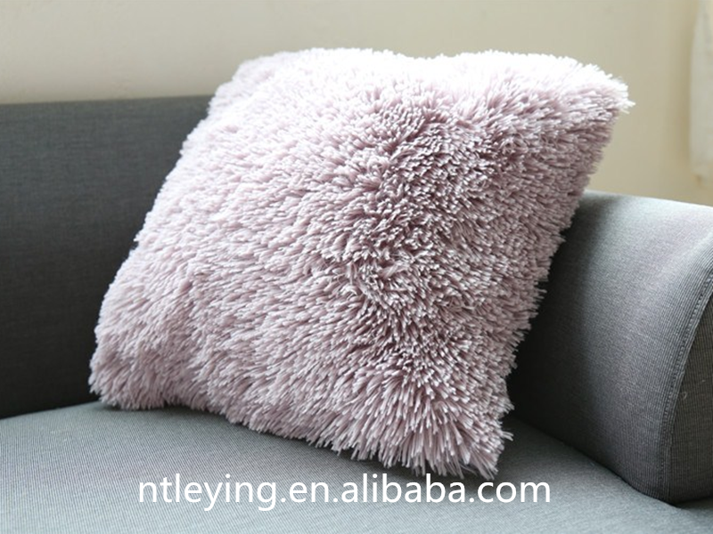 High quality office PV fleece cover chair seat sofa cushion for office throw sherpa pillowLYFP047
