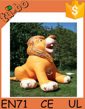 PVC advertising animal outdoor, helium animal giant inflatable lion