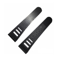 High quality printed logo durable rubber hook and loop,cuff tab