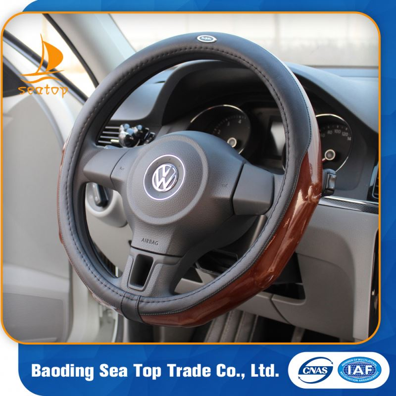 luxury unique leather car steering wheel cover