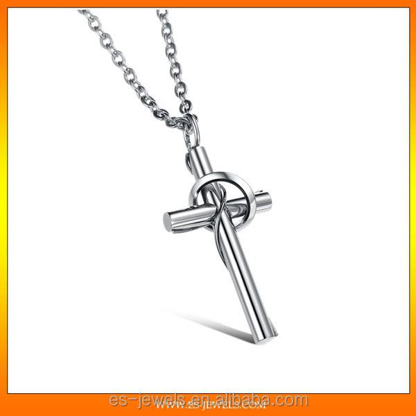 best selling titanium steel jewelry silver cross pendant