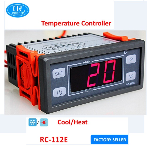 RINGDER RC-112E Low Price Digital Temperature Controller Thermostat for Incubator 230V 110V Price