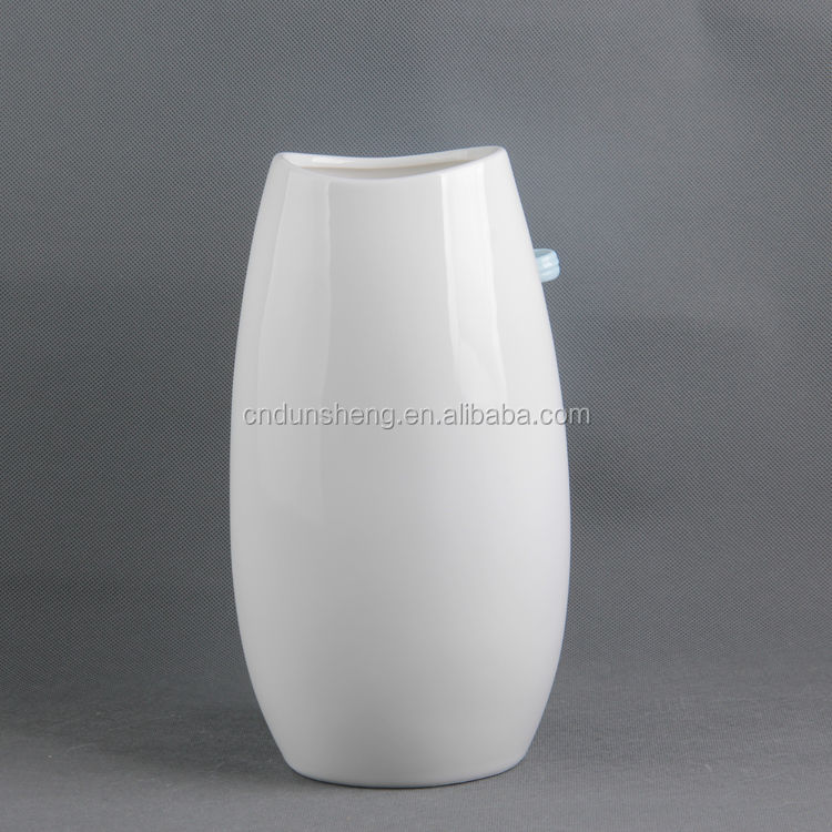 wholesale 3 assorted textured porcelain floral vase home decoration pieces