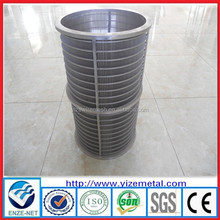 alibaba china supplier wedge wire filtration elements/screen support grids/water well screen