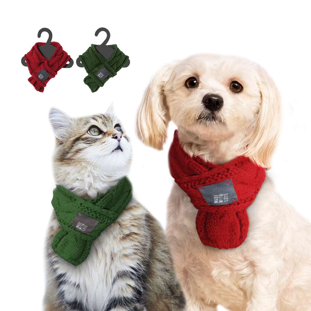 2017 New style knnited wool pet dog scarf winter dog & cat apparel