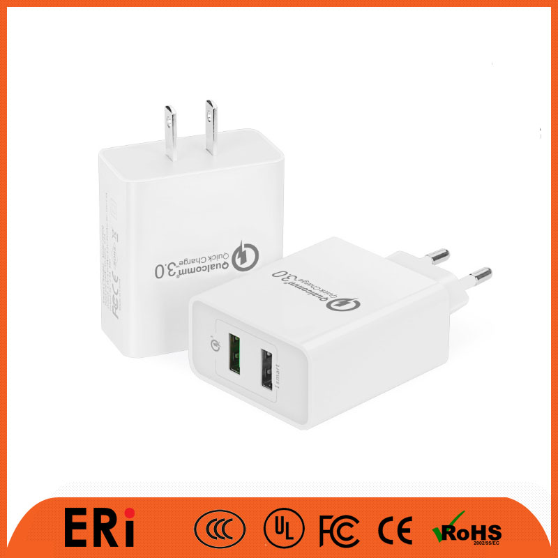 Good quality qc 3.0 wordwide international original powerful in mobile best small universal plug multi travel usb wall charger