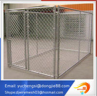 China Supplier Superior Quality Metal Tube Dog Kennel With 2 Dog Runs Durable In Use