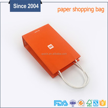 Customized reusable printing wine gift paper bag with handle