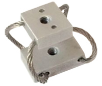 light weight aluminum retainer bar compact cable isolator