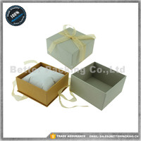 JBP211WS With Ribbon Butterfly Closure Style Jewelry box With Velvet Pillow Inside Paper Watch Box