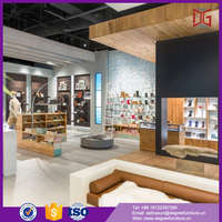High Quality Shoe Wall Wood Glass Showcase Designs