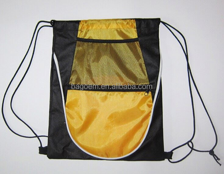 customized reusable basket ball polyester drawstring bag