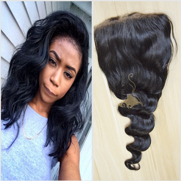 Drop shipping to your clients directly 7a grade good feedback loose wave top silk base closure freestyle parting