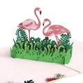 Custom design flamingo wedding card 3D pop up greeting cards