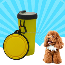 Dual Hydration Water Bottle Companion Cup Collapsible Dog Travel Bowl