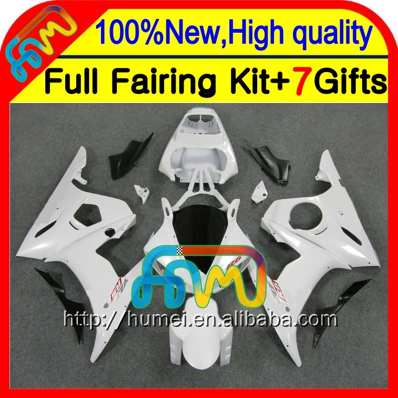 BodyBody For YAMAHA YZFR6 03-05 YZF-R6 R6 CL9310 ALL White YZF600 YZF R6 03 04 05 2003 2004 2005 Fairing Kit ALL Pearl White