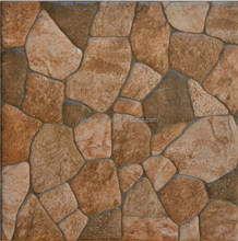Latest design square cobblestone park outdoor porcelain 3d stone floor tiles