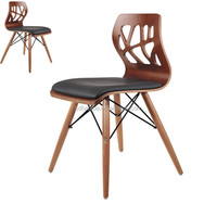 Strong modern design wooden 4 wood legs chair, dining room chair, home furniture