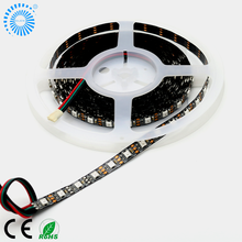 White/Black cable 5V 48IC/48LEDs Addressable WS2812B digital led strip SMD5050 from Clen