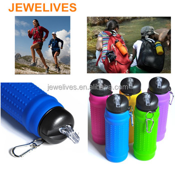 Creative products for silicone outdoor sports water bottle