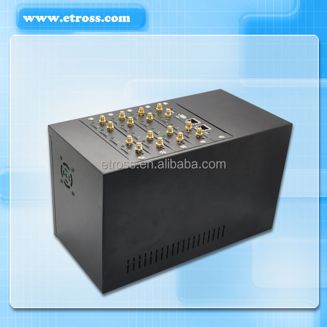 3G 16 sim slot GSM voip Gateway support mobile network 2100 850 900