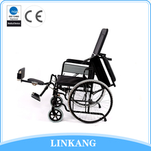 China manufacturer folding manual wheelchair with high back