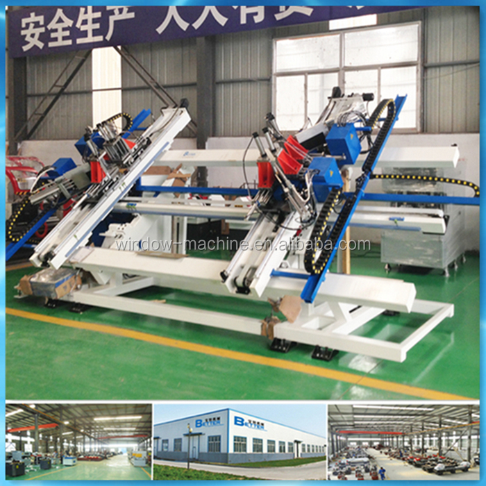 Vertical 4 Point Plastic Window Profile Machine for Welding