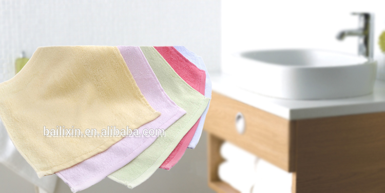 New promotional gifts solid color bamboo face towel