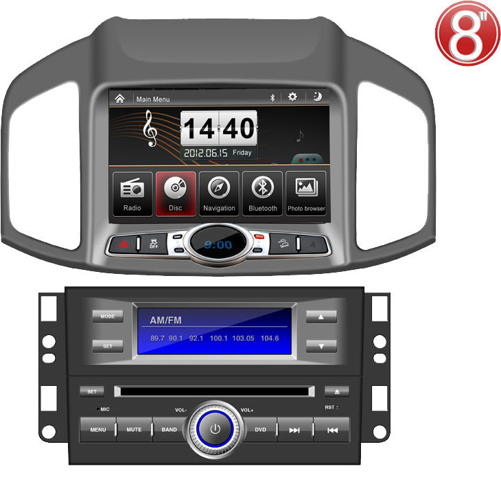 ugode two din car DVD player for Chevrolet Captiva 2012 with DVD GPS radio bluetooth IPOD USB SD car multimedia player