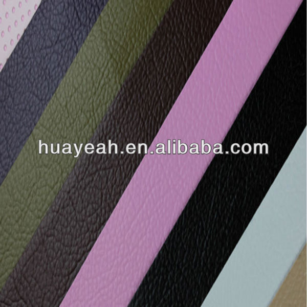 The litchi grain faux pu leather fabric