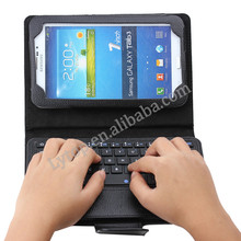 sliding keyboard case for SAMSUNG galaxy tab 3 P3200,leather case bluetooth keyboard for samsung galaxy tab 3