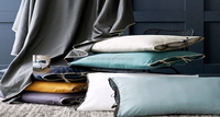 Newest design pure linen bedding sheet set/duvet cover set with ties closure