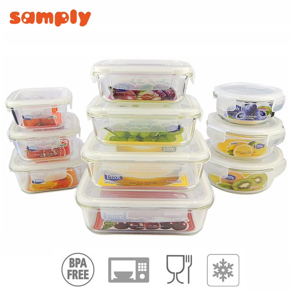 Hot selling machine grade Nontoxic food glass rice box container of CE and ISO9001 standard